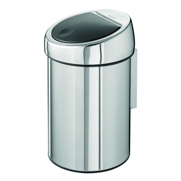 Ведро для мусора Brabantia Touch Bin, 3 л, цвет полированная сталь