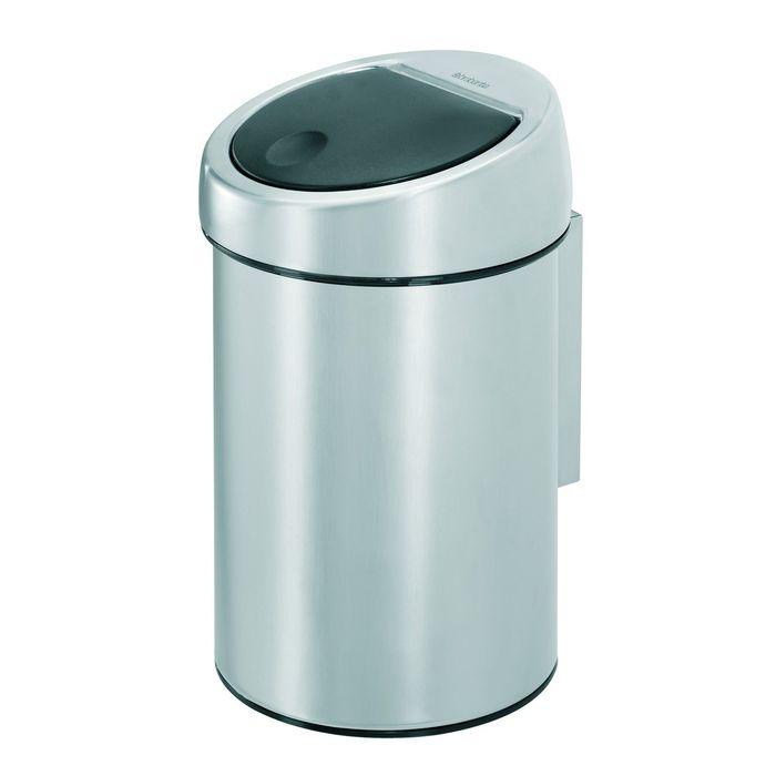 Ведро для мусора Brabantia Touch Bin, 3 л, цвет матовая сталь