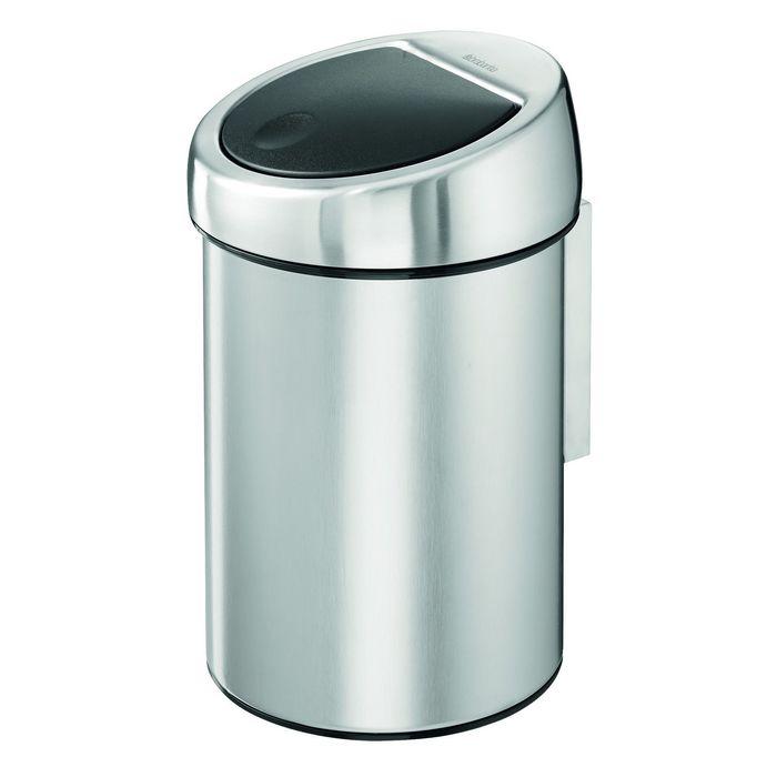 Ведро для мусора Brabantia Touch Bin, 3 л, цвет хром