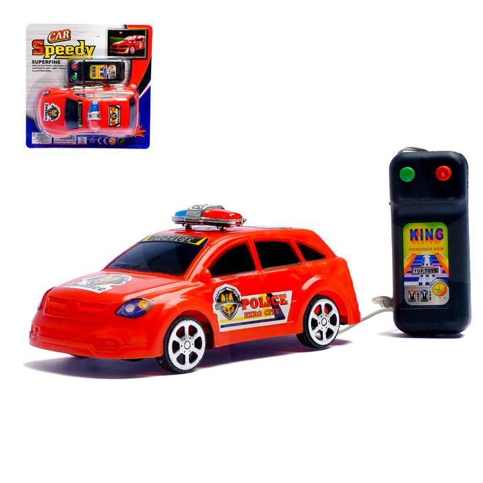 """Машина на дистанционном управлении """"Полиция"""", работает от батареек, цвета МИКС"""