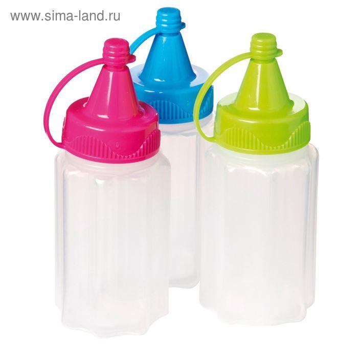 Бутылка для соуса Sistema To-Go, 35 мл, 3 шт., цвет МИКС