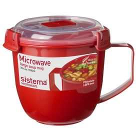 Кружка суповая Sistema Microwave, 900 мл