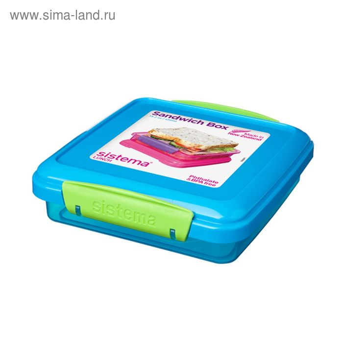 Контейнер для сэндвичей Sistema, 450 мл, цвет МИКС