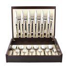 Набор столовых приборов Ergo, серебристый, зеркальная полировка, 24 предмета