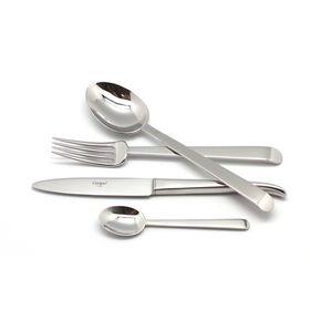 Набор столовых приборов Ergo, серебристый, зеркальная полировка, 72 предмета