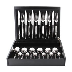 Набор столовых приборов Carre, серебристый, зеркальная полировка, 24 предмета