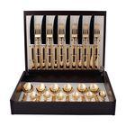 Набор столовых приборов Piccadilly Gold, золотистый, зеркальная полировка, 24 предмета