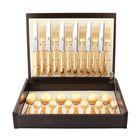 Набор столовых приборов Mitnos Gold, золотистый, матовая полировака, 24 предмета