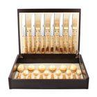 Набор столовых приборов Line Gold, золотистый, матовая полировака, 24 предмета