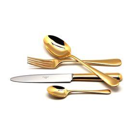 Набор столовых приборов Atlantico Gold, золотистый, зеркальная полировка, 24 предмета