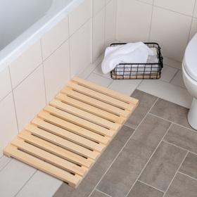 Решетка в ванную комнату под ноги 70×42×3 см, сосна Ош