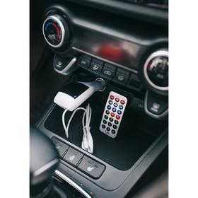 FM - трансмиттер 12 В, USB/Mp3/WMA/AUX/MicroSD, МИКС Ош