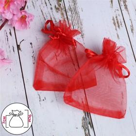 Мешочек подарочный 7*9, цвет красный