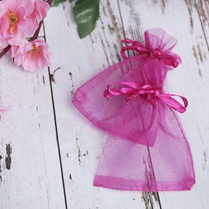 Мешочек подарочный 7x9, цвет малиновый