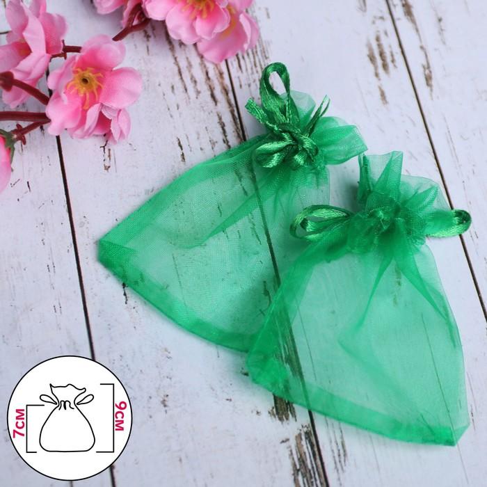 Мешочек подарочный 79, цвет темно-зелёный