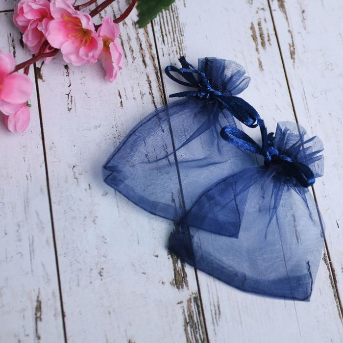 Мешочек подарочный 79, цвет темно-синий