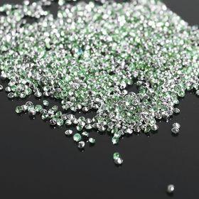 Стразы (набор 10грамм), 2мм, цвет сетло-зеленый №3