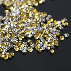Стразы (набор 10грамм), 2мм, цвет золотой №9