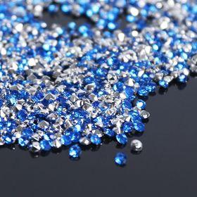 Стразы (набор 10грамм), 2мм, цвет светло-синий №33 Ош