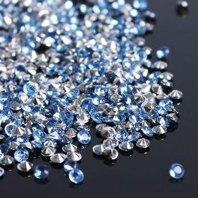 Стразы (набор 10грамм), 3мм, цвет голубой №2