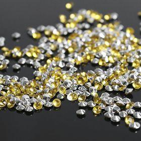 Стразы (набор 10грамм), 3мм, цвет золотой №9