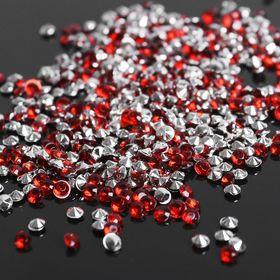 Стразы (набор 10грамм), 3мм, цвет тёмно-красный №19