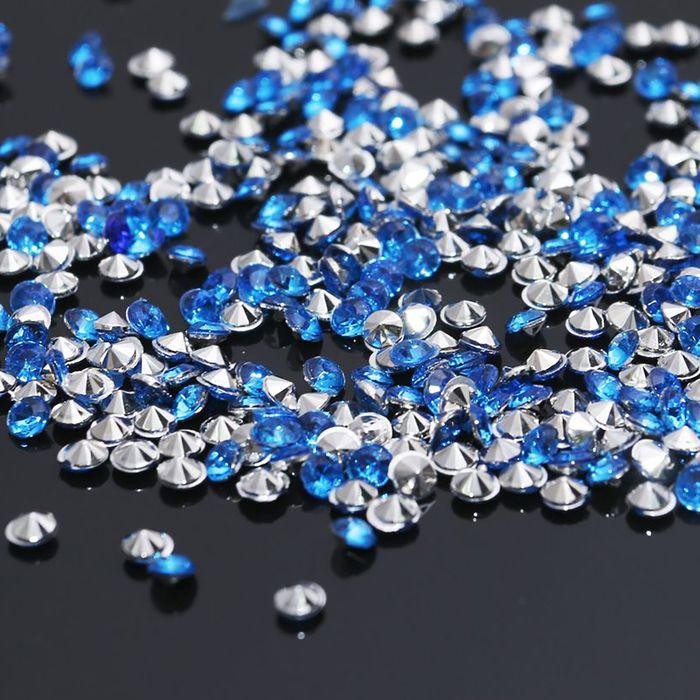 Стразы набор 10грамм, 3мм, цвет светло-синий 33