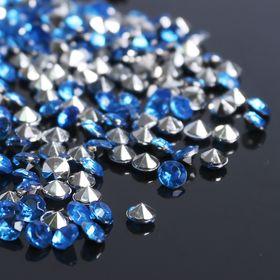 Стразы (набор 10грамм, 300шт), 4мм, цвет светло-синий №33 Ош