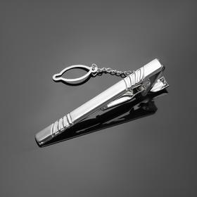 Зажим для галстука стальной 'Классический' цвет матового серебра Ош