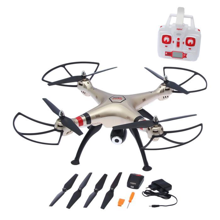 Квадрокоптер Syma X8HW, камера 1,0 Mpx, передача изображения на смартфон, барометр, Wi-Fi