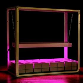 Домашний огород LED, стакан модульный 24 ячейки по 350 мл (со светодиодным фито освещением) Ош