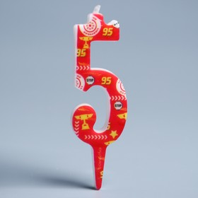 Свеча в торт цифра Дисней 5