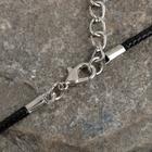 """Кулон на шнурке """"Солнце"""", цвет чёрный в чернёном серебре, 45см - Фото 2"""