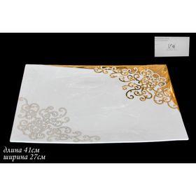 Прямоугольное блюдо «Золотой орнамент», в подарочной упаковке