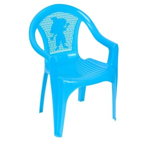 Кресло детское, 380х350х535 мм, цвет голубой Ош