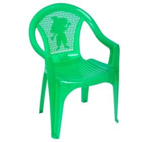 Кресло детское, 380х350х535 мм, цвет зелёный Ош