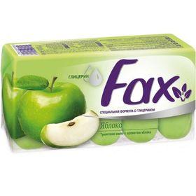Туалетное мыло Fax «Яблоко», с глицерином, 5 шт. по 70 г