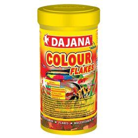 Корм Dajana Pet Color flakes для рыб, для окраса, хлопья, 100 мл.