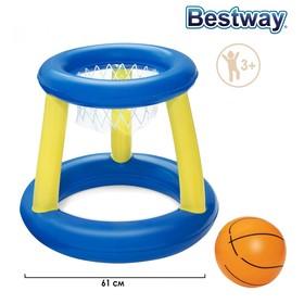 Набор для игр на воде «Баскетбол», d=61 см, корзина, мяч, 3 кольца, от 3 лет, 52190 Bestway Ош