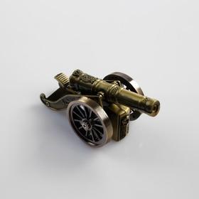 Зажигалка настольная 'Пушка', пьезо, газ, 10х3.5 см, Ош