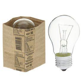 Лампа накаливания ТЭЛЗ А50, 60 Вт, Е27, 230 В Ош
