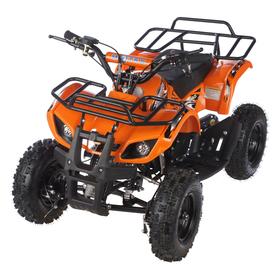 Квадроцикл детский бензиновый MOTAX ATV Х-16 Мини-Гризли, оранжевый, механический стартер Ош