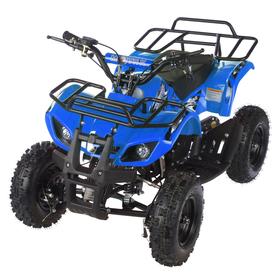 Квадроцикл детский бензиновый MOTAX ATV Х-16 Мини-Гризли, синий, механический стартер