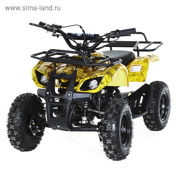 Квадроцикл детский бензиновый MOTAX ATV Х-16 Мини-Гризли, осенний камуфляж, электростартер и родительский пульт