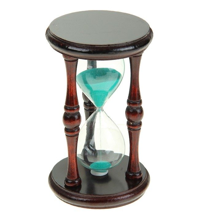 """Часы песочные """"Олимпия"""", чёрное дерево, песок микс, 9х17 см"""