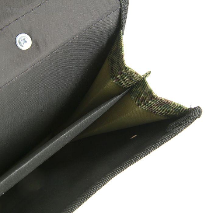 """Портфель деловой ткань 350 х 260 х 100 мм,""""Сестрорецк"""", камуфляж"""