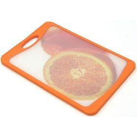 Кухонная доска Atlantis Flutto «Апельсин», цвет оранжевый, 20 x 14 см
