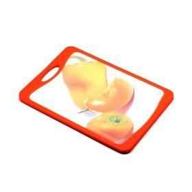 Кухонная доска Atlantis Flutto «Сладкий перец», цвет оранжевый, 29 x 20 см