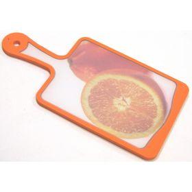 Кухонная доска Atlantis Flutto «Апельсин», цвет оранжевый, 35 x 18 см