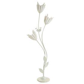 Светильник напольный 8826/3 'Белые тюльпаны' E27 40W 159х47х27 см Ош